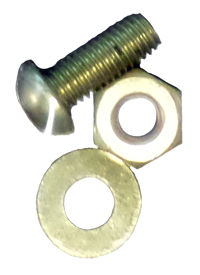 Brass Washer Nut & Bolt